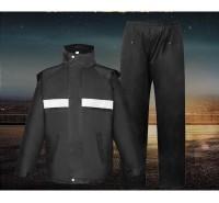 厂家批发 城管雨衣雨裤套装 城管执勤服装定制 加厚双层