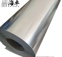 厂家生产铝箔玻纤布防火隔热耐高温玻璃纤维铝箔复合布免费拿样品