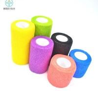 BD01厂家热销纯色彩色无纺布涤纶自粘弹性绷带跑步运动弹性自粘绷带