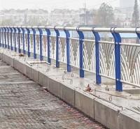 桥梁护栏 河道景观扶手护栏 不锈钢复合管桥梁防撞护栏来图定制