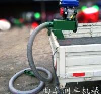 耐磨胶管吸麦机 耐磨抽料机 柴油机动力抽粮机