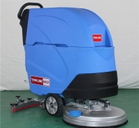 化工厂车间库房灰尘污渍清洗吸干擦地机  电瓶式全自动洗地机M2