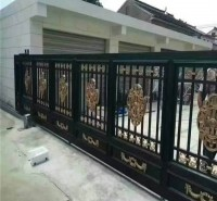 铝艺大门 铝艺别墅庭院门 豪华欧式铝艺对开大门